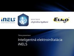 Inteligentná elektroinštalácia iNELS