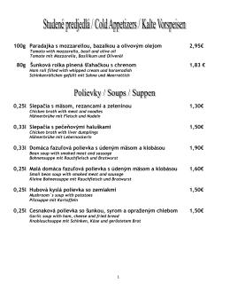 100g Paradajka s mozzarellou, bazalkou a