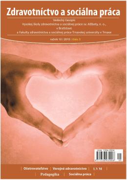 Casopis ZaSP-5-2012-slovenský - Zdravotníctvo a Sociálna Práca