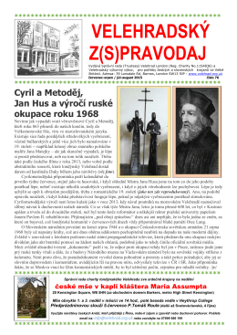 Velehradsky Z(S)pravodaj July August 2015