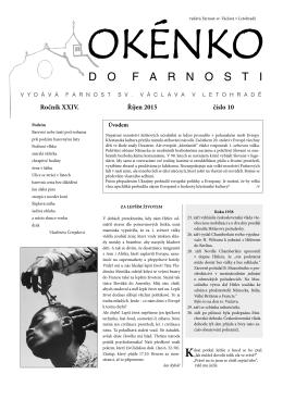 Okénko do farnosti 10/2015 (formát pdf) - Letohrad