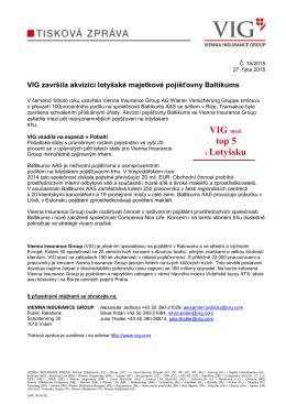 VIG mezi top 5 v Lotyšsku