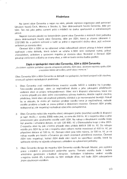 Předmluva 7ápiso spolupráci mezi obcí Červenka