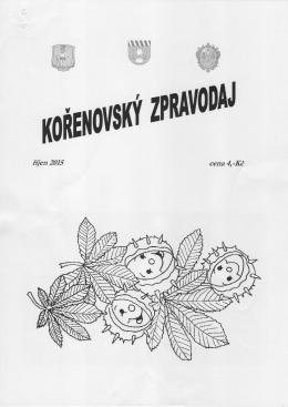 Kořenovský zpravodaj říjen/2015 (formát: pdf)