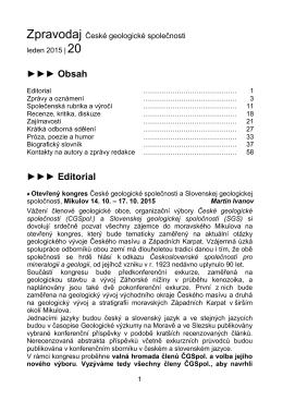 Zpravodaj České geologické společnosti č.20