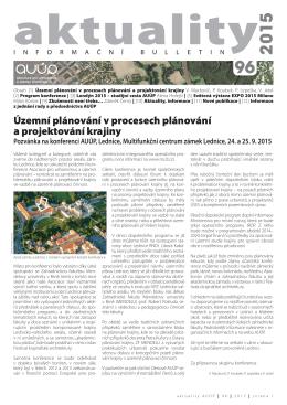 Aktuality 96 - Asociace pro urbanismus a územní plánování