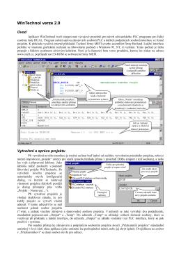 WinTechnol verze 2.0