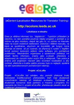 eContent localisation tools