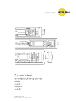 Provozní návod Interroll Bubnový motor