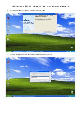 Manuál softwaru pohoda