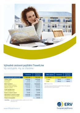 výhodné cestovní pojištění TravelLine vy cestujete, my se staráme