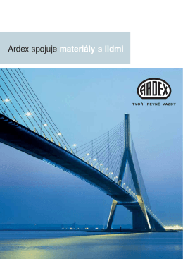 Ardex spojuje materiály s lidmi