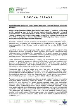 Tisková zpráva (celé znění)