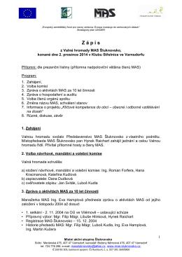 Zápis z Valné hromady MAS 2. 12. 2104 (pdf 285.96 KB)