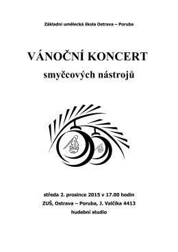 Vánoční koncert smyčců - ZUŠ Ostrava
