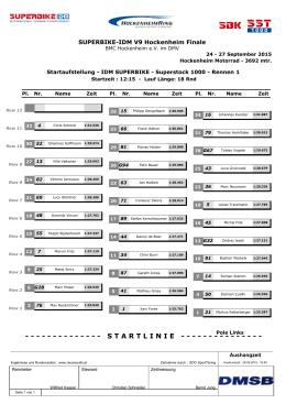 IDM SUPERBIKE - Superstock 1000 - Rennen 1