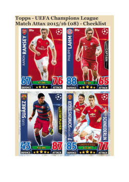 Topps - UEFA Champions League Match Attax 2015