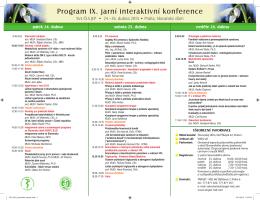 Program IX. jarní interaktivní konference