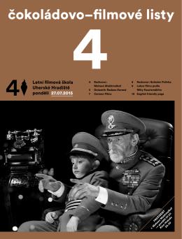 pondělí 27. 7. 2015 - Letní filmová škola Uherské Hradiště