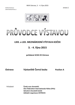 Katalog výstav 03.-04.10.2015