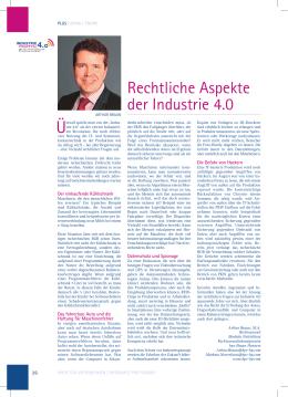 Právní aspekty průmyslu 4.0