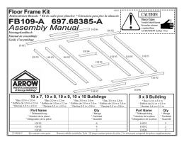 FB109-A 697.68385-A Assembly Manual