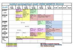Institut sociologických studií: ZIMNÍ SEMESTR 2013/14