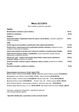 menu 15 05 22
