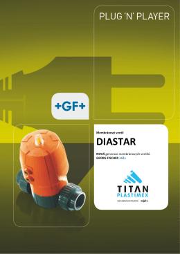 Nové membránové ventily DIASTAR - TITAN