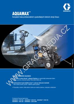 Prospekt AQUAMAX™ Kompletní řada profesionálních