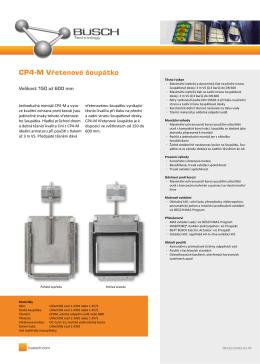 CP4-M Vřetenové šoupátko