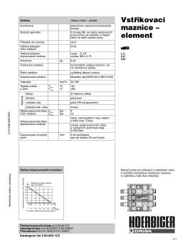 Vstřikovací maznice – element