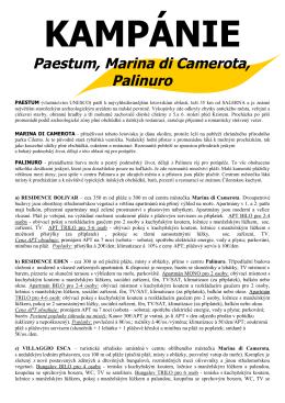 KAMPÁNIE Paestum, Marina di Camerota, Palinuro - KO-TOUR