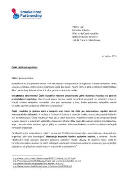Vážený pan Bohuslav Sobotka Úřad vlády České republiky Nábřeží