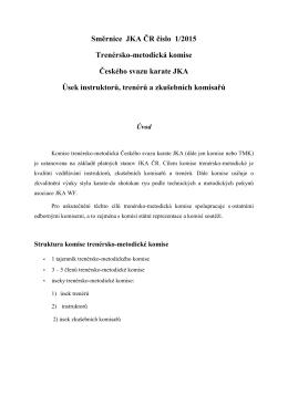 Směrnice instruktoři, trenéři a ZK komisaři