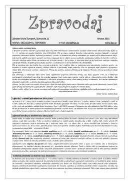 Školní Zpravodaj - březen 2015