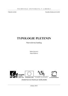 Katalog Pletenin - Fakulta textilní