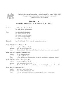 H Státn´ı záverecné zkoušky v akademickém roce 2014