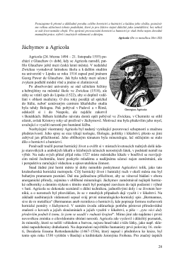 Jáchymov a Agricola