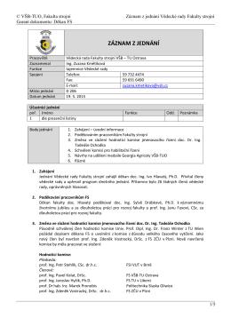 Zápis z jednání ze dne 19. 05. 2015