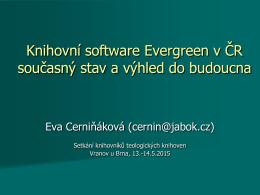 Knihovní software Evergreen v České republice