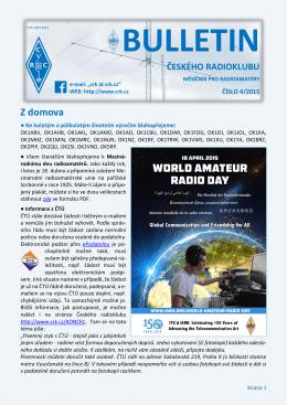 Bulletin ČRK č. 4/2015