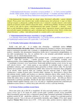 D. Vědeckofantastická literatura 1