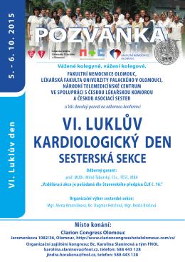 PRO SESTRY / - VI. Luklův kardiologický den
