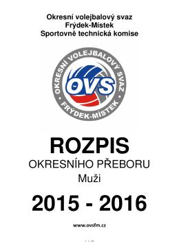 Rozpis OP muži 2015-16 - Okresní volejbalový svaz Frýdek