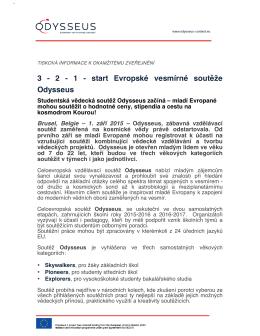 3 - 2 - 1 - start Evropské vesmírné soutěže Odysseus