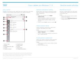 Cisco Jabber pro Windows 11.5 Stručná úvodní příručka