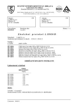 Protokol o obsahu lepku 6/2015