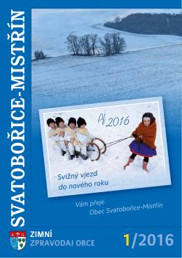 Zimní zpravodaj obce Svatobořice