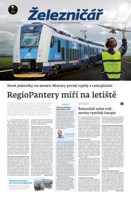 RegioPantery míří na letiště - Železničář